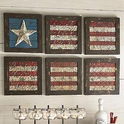 6-Piece Flag Wall Art