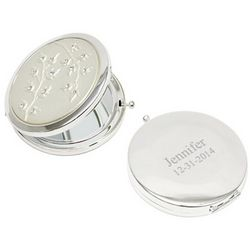 Leaves Design Compact Mirror