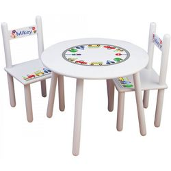 Personalized Child's Round Table and Chairs