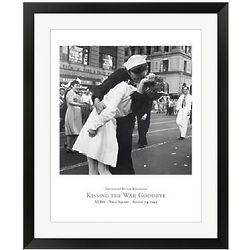 Kissing The War Goodbye Framed Wall Art