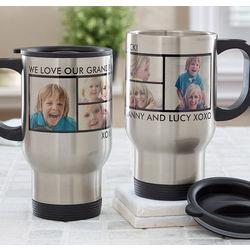 Personalized Photo Collage Travel Mug