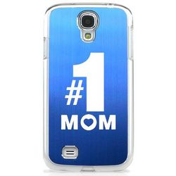 #1 Mom Cell Laser Blue Phone Case