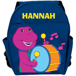 Personalized Barney Drummer Blue Backpack