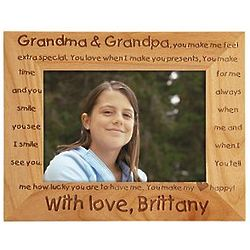 Personalized Grandma and Grandpa Single Child Frame