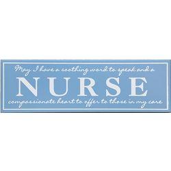 Nurse's Wooden Profession Plaque