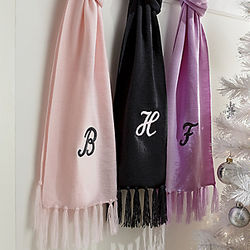 Monogrammed Acrylic Scarf