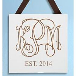 Personalized Monogram Wood Plaque