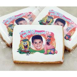 Graduate's Custom Photo SpongeBob Cookies