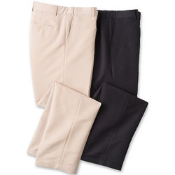 Flat Front Microfiber Trousers