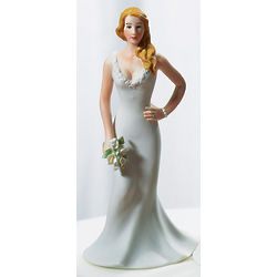 Curvy Bride Wedding Cake Topper