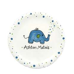 Baby's Personalized Elephant Plate