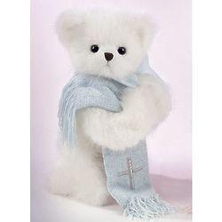 Praying Bear with Cross Blanket