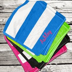 Personalized Stripe Beach Towel