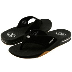 Fanning Black Sandals