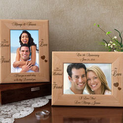 Personalized My Husband, My Friend Wooden Picture Frame