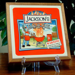Personalized BBQ FireTrivet with Frame