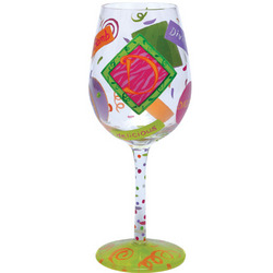"""D"" Wine Glass"