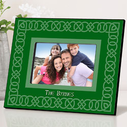 Personalized Celtic Green Picture Frame