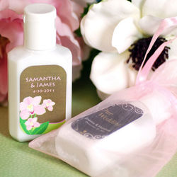 Personalized Travel Size Lotion Favors
