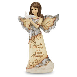 Expressions of Sympathy for Loss of a Husband Angel Figurine