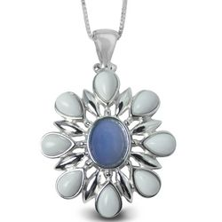 Oregon's Snow Drift Petals Opal Pendant Necklace