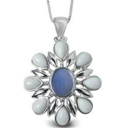 Oregon's Snow Drift Petals Opal Pendant Necklace