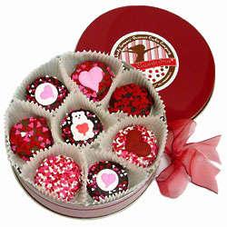 Valentine Tin of Chocolate Dipped Oreos