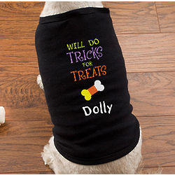 Personalized Tricks for Treats Halloween Dog Shirt