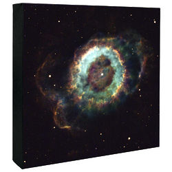 Old Star Gives Up The Ghost Hubble Image Canvas Print