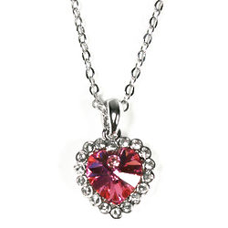 Forever Yours Heart Shaped Swarovski Elements Crystal Necklace