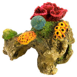 Red Brain Coral Aquarium Ornament