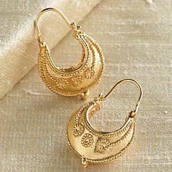 Etruscan Hoop Earrings