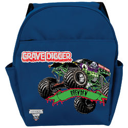 Monster Jam Grave Digger Blue Backpack
