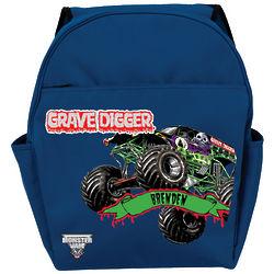Monster Jam Grave Digger Blue Backpack