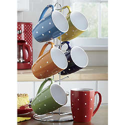 Assorted Polka Dot Mug Set