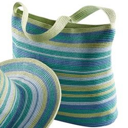 Ocean Striped Shoulder Bag