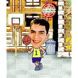 Your Photo in a Basketball Player Caricature