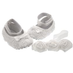 Baby's Baptism Shoes and Headband