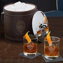 Police Badge Custom Cocktail Gift Set