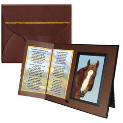 Rainbow Bridge Poem for Horses Sympathy Picture Frame
