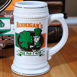 Personalized Irish Pub and Grub Stein