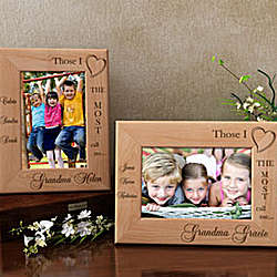 Personalized Those I Love Wooden Picture Frame