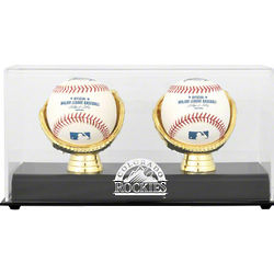 Colorado Rockies Gold Glove Double Baseball Display Case