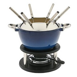 Noirmont 10 Piece Cast Iron Meat Fondue Set