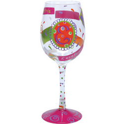 """E"" Wine Glass"