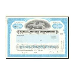 General Motors Stock Certificate Collectible