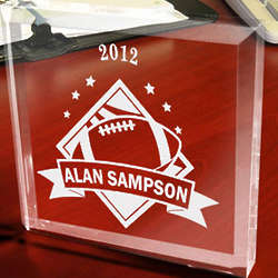 Personalized Football All-Star Paperweight