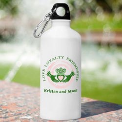 Personalized Claddagh Water Bottle