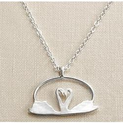 Swan Heart Necklace
