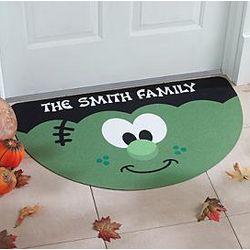Personalized Half Round Frankenstein Doormat